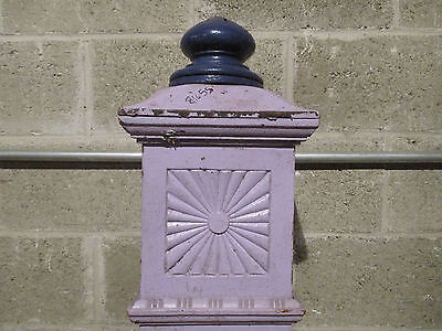 ~ Antique Carved Oak Newel Post 55.5 Tall ~  Architectural Salvage ~