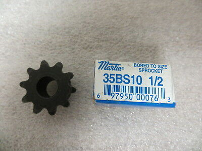 "Martin 35BS10 1/2"" Bored To Size Sprocket New"