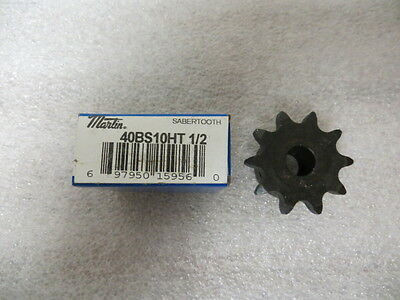 "Martin 40BS10HT Bored to Size Sprocket 1/2"" Bore x 40 Chain 10 Tooth New"