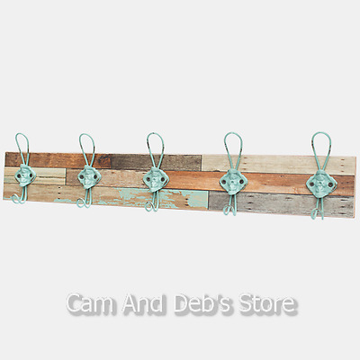 Multiple Wall 5 Hook Coat Hat Hanger Rack
