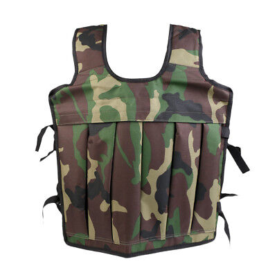 Weighted Vest Weight Loss Training Running Fitness Jacket Sand Clothing Camo