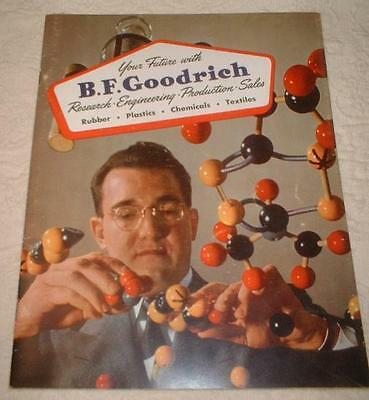 """1952 """"YOUR FUTURE WITH"""" B F GOODRICH TIRES BOOK ~RUBBER BICYCLES RADIOS TOYS TVs"""