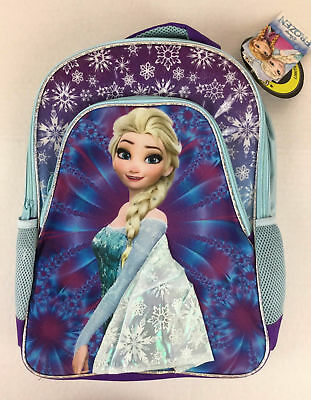 a72c081629a Disney Frozen Elsa Backpack NWT Girl Purple Blue Sparkle Padded Shoulder  Strap