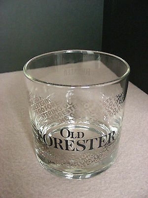 """8 Oz. Vintage """" OLD FORESTER """" Rocks Glass:  3 1/2"""" Tall:  """" RARE - SHIPS FREE """""""