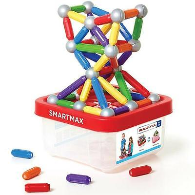 SMARTMAX - 70 Piece Bucket - Magnetic Discovery Toy by Smart Games  NEW!!