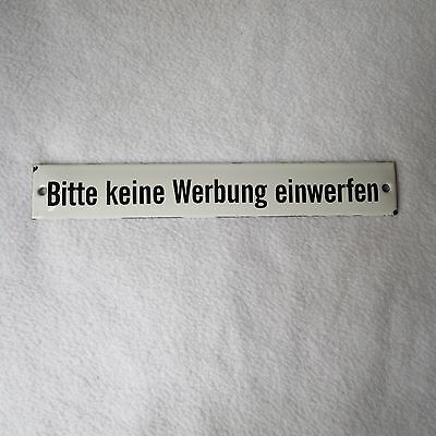 altes emailschild bitte keine werbung einwerfen 20x3cm emaille schild email rar eur 49 00. Black Bedroom Furniture Sets. Home Design Ideas