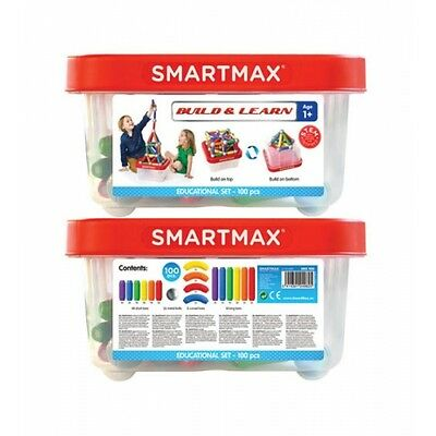 SMARTMAX - 100 Piece Bucket - Magnetic Discovery Toy by Smart Games  NEW!!