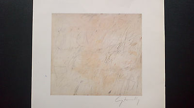 Cy Twombly Original - Lithographie, Untitled, signiert 1964