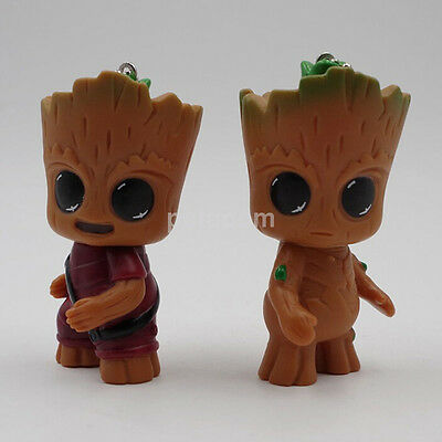 """Hot Guardians of the Galaxy Vol.2 Baby Groot 3"""" Key Ring Figure Doll Pendant AU"""