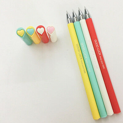 4 Pc Good Luck Keep Your Faith Gel Pens ~ Stationery, Planner Pen Motivational