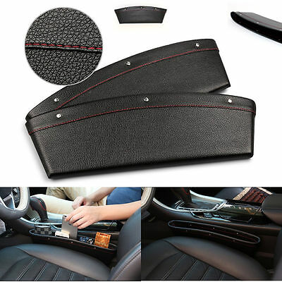 PU Leather Car Seat Side Gap Filler Storage Pocket Organizer for Small Gadgets