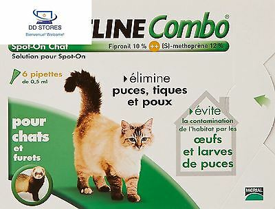 Merial Chats FRONTLINE COMBO Chat 6pip Anti puce, anti tique