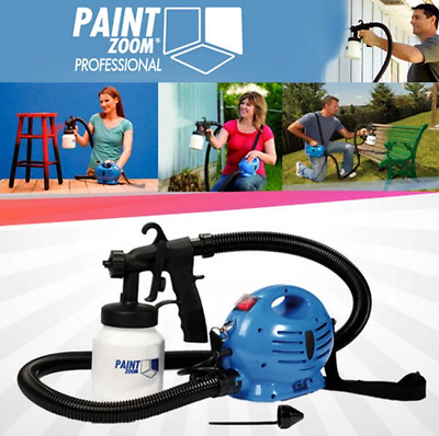 Paint Zoom 650W HVLP Electric Airless Paint Spray Gun Painting Sprayer Tool Home