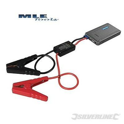Silverline 12V Lithium Power Bank & Jump Starter phone car cables 423352