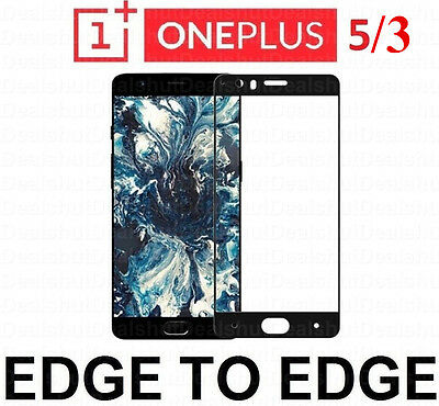for ONE PLUS 3/5 Full Cover Genuine Premium Tempered Glass Film Screen Protector