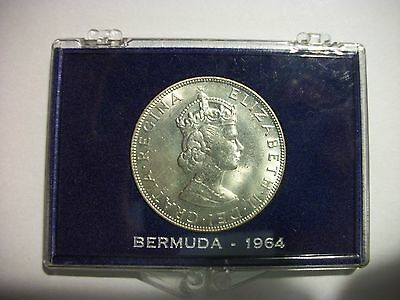 Bermuda 1964 Crown unc Coin in case