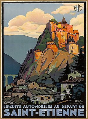 Saint-Étienne France French  Europe Vintage Travel Advertisement Poster Print