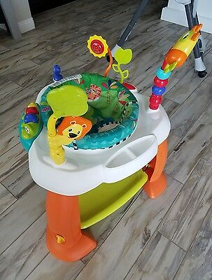 Baby Exercise Bouncer Jumper Exersaucer Bright stars safari/jungle. Very clean.