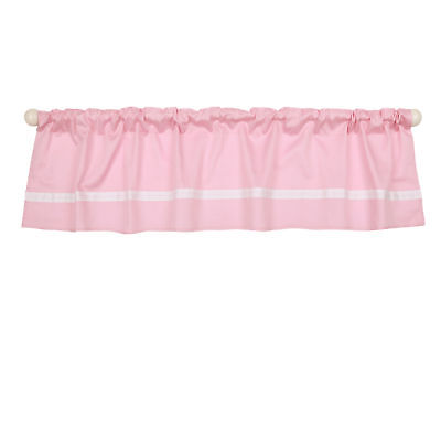 Pink Tailored Window Valance by The Peanut Shell - 100% Cotton Sateen