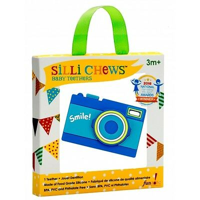 NEW!!! Smiley Camera Food Grade Silicon Teether by Silli Chews