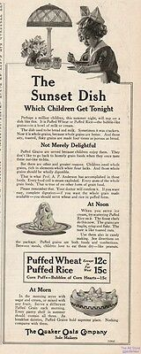 1916 Quaker Oats Oatmeal Breakfast Cereal Vintage Kitchen Décor Print Ad