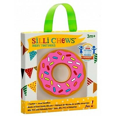 NEW!!! Pink Donut Food Grade Silicon Teether by Silli Chews