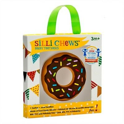 NEW!!! Chocolate Donut Food Grade Silicon Teether by Silli Chews