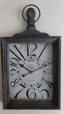 New shabby chic large Vintage Antique Style Rustic Era Paris wall Clock
