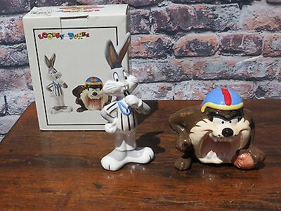 "New Looney Tunes Bugs Bunny & Tasmanian ""TAZ"" Baseball Salt & Pepper Shakers"