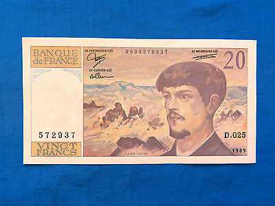 1989 France 20 Franc Banknote    *XF*    *P-151c*