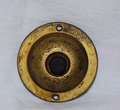 Antique Vintage Sheet Brass Push Button Single Door Bell Architectural Steampunk