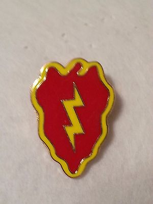 US Army 25th Infantry pin   Metal 1 inch lapel Pin 2 post attachment