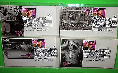 #2721 Elvis Presley Fdc, Paw Photo Cachet, Ua Lot Of 4, Hard To Find, Lot # 14