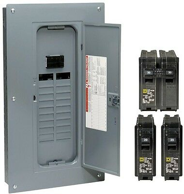 Square D Homeline 100 Amp 20-Space 40-Circuit Indoor Main Breaker Value Pack