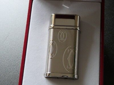 Cartier 'Happy Birthday Edition' Palladium Plated Decor Lighter Comes Boxed