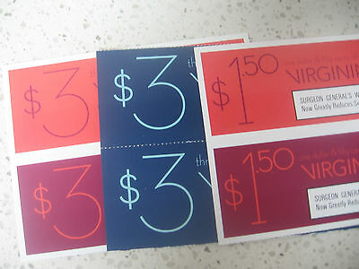 Virginia Slims coupons lot of 6 $15 value