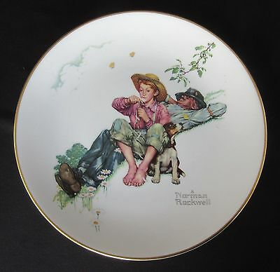 """Norman Rockwell """"Day Dreamers"""" Limited in Ed by Gorham - 10 5/8"""" Plate of 1974"""