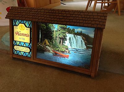 Hamm's Beer Scene-O-Rama Animated Motion Lighted Wall Sign Waterfall Super Nice