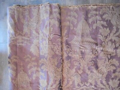 Large Bolt c 1900 Antique Chinese Style Chinoiserie Upholstery Fabric