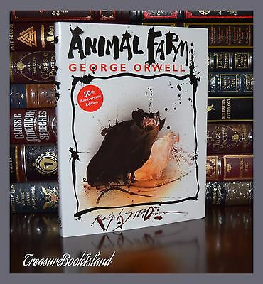 Animal Farm by George Orwell 50th Anniversary Illustrated New Hardcover Gift