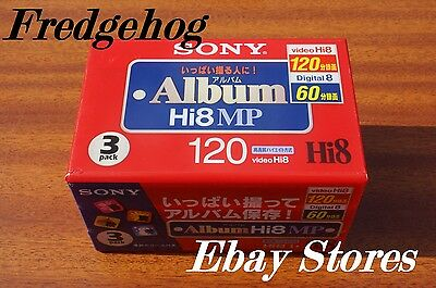 3 x SONY P6-120HMP Hi8 / DIGITAL 8 CAMCORDER TAPES / CASSETTES - TOP QUALITY