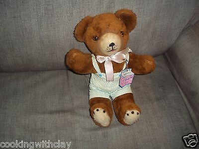 New Plush Doll Figure Vintage Trudy Toys Made In The Usa Teddy Bear