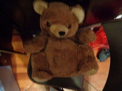 Rare Vintage Jumbo Plush Mommy Daekor Pot Belly Brown Teddy Bear Hudson Trading