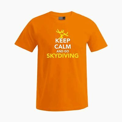 T-Shirt mit Spruch: KEEP CALM AND GO SKYDIVING RW 4Way
