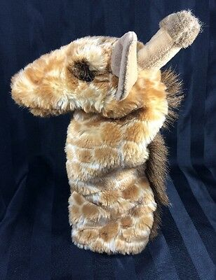 "Folkmanis Giraffe Stage Puppet Brown Mane Cream Spots 13"" Long"