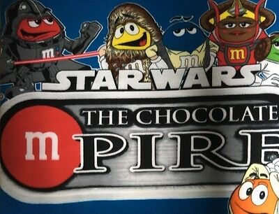 "Star Wars M&Ms Throw Blanket Fleece The Chocolate Mpire 60"" x 50"" Bright Colors"