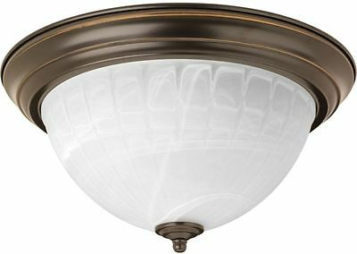 13.125-in W Antique Bronze LED Flush Mount Light Fixture Bedroom Bathroom New