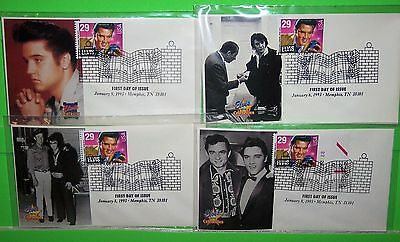 #2721 Elvis Presley Fdc, Paw Photo Cachet, Ua Lot Of 4, Hard To Find, Lot # 37