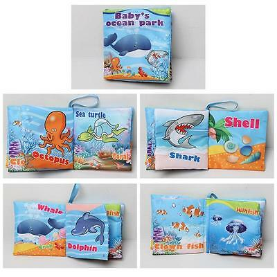 Cute Kid Baby Soft Intelligence Development Cloth Cognize Book Educational Toy W