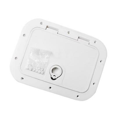 Access Hatch & Lid White 375mmx280mm - Boat/Marine/Caravan/RV/Storage